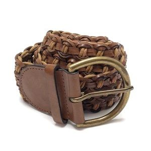 Loft woven leather belt M